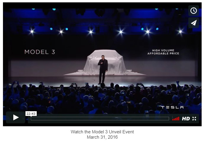 Tesla Model 3 Live Launch – Check Elon Musk & Tesla's New Milestone Event For 2017.