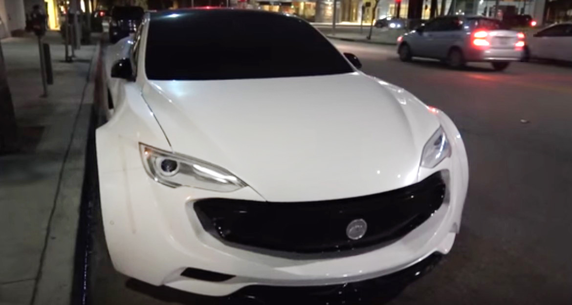 Let's Play – Will.i.am Customized Tesla Model S spotted in Beverly Hills