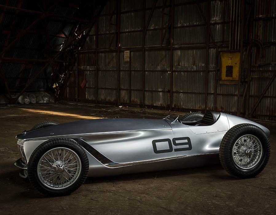 Why not? Infinity built elegant retro racer with pure electric power – Prototype 9