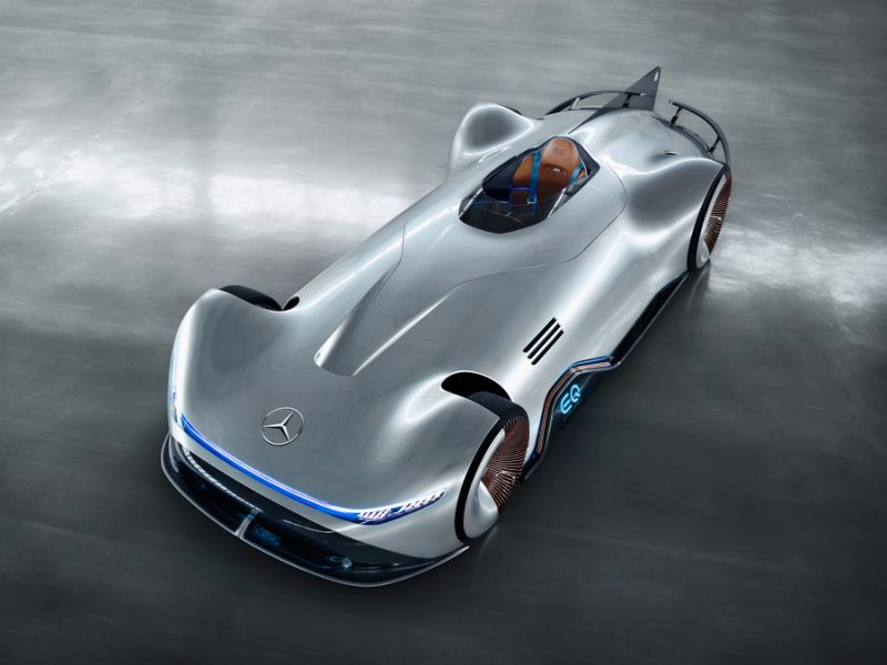 Mercedes EQ Silver Arrow is 738 bhp electric beauty with retro body and latest tech